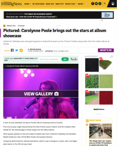 Manchester Evening News Carolynne Poole Album Launch